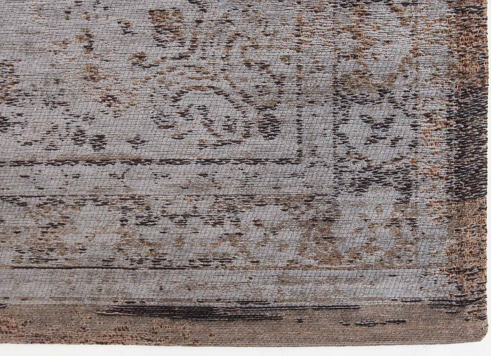 tapis Louis De Poortere LX8257 Fading World Medaillon Grey Ebony corner