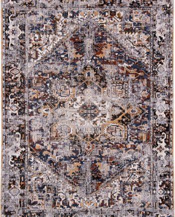 tapis Louis De Poortere LX8707 Antiquarian Antique Heriz Divan Blue