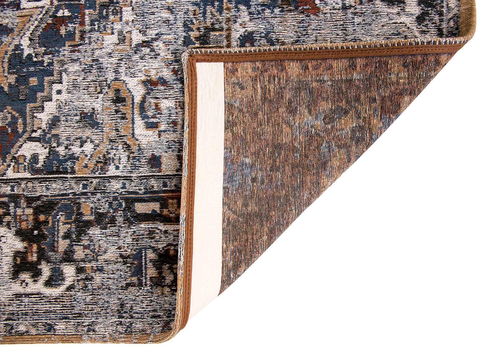tapis Louis De Poortere LX8707 Antiquarian Antique Heriz Divan Blue back