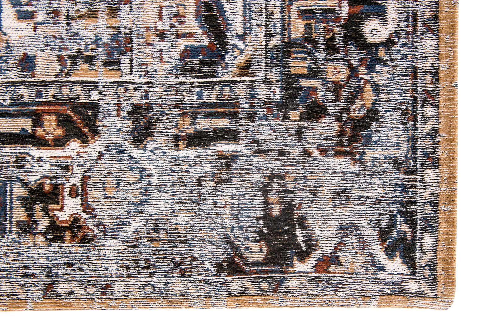tapis Louis De Poortere LX8707 Antiquarian Antique Heriz Divan Blue corner