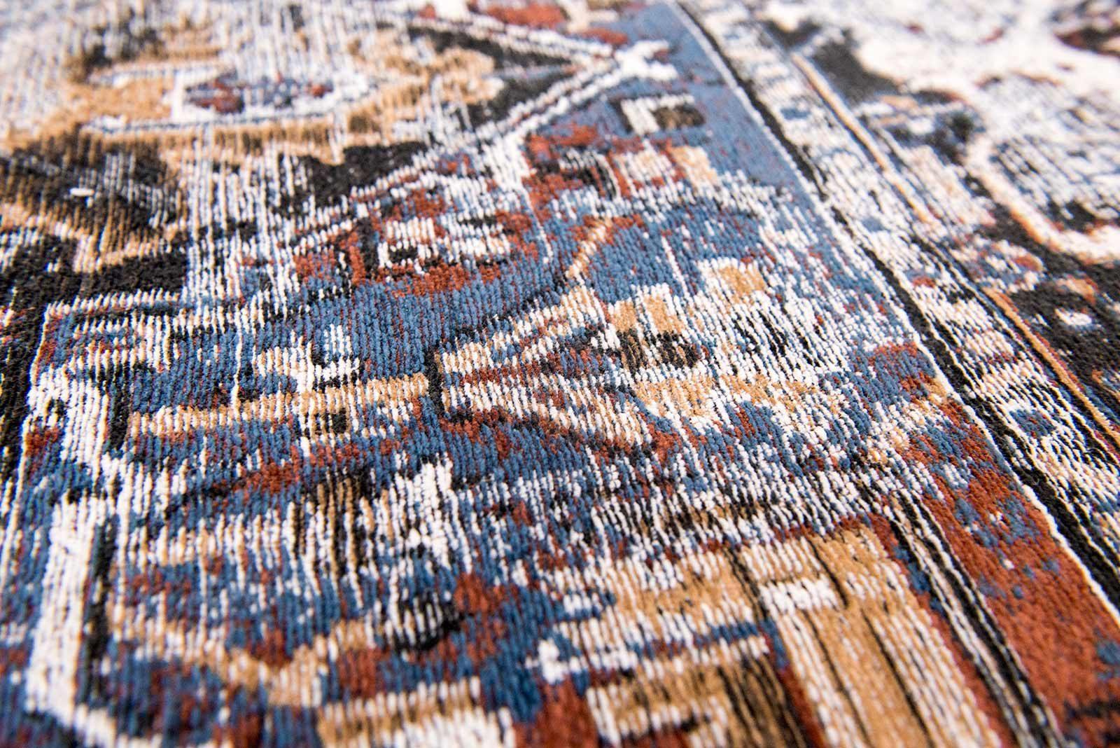 tapis Louis De Poortere LX8707 Antiquarian Antique Heriz Divan Blue zoom 2