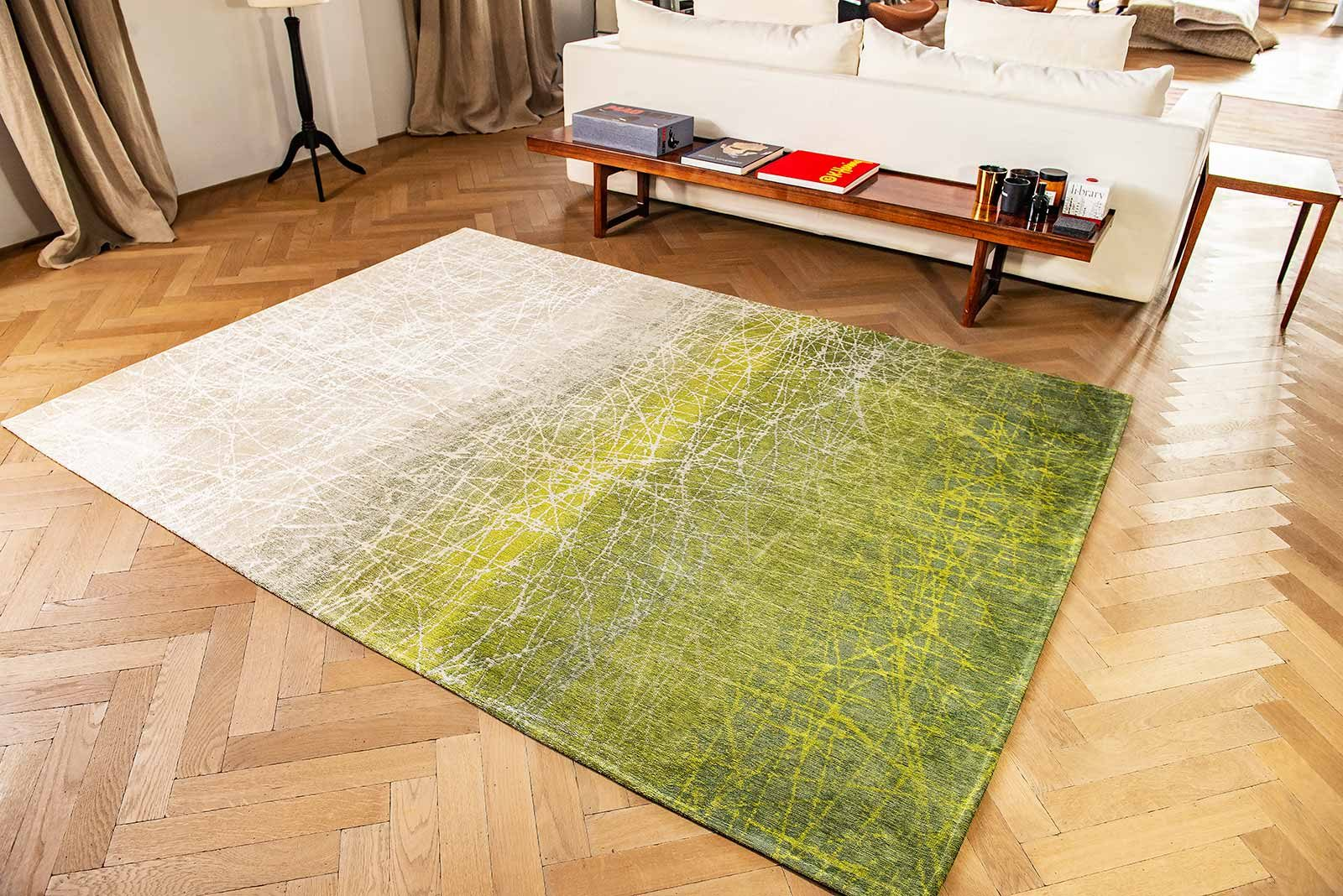 tapis Louis De Poortere LX 8882 Mad Men Fahrenheit Central Park Green interior 2