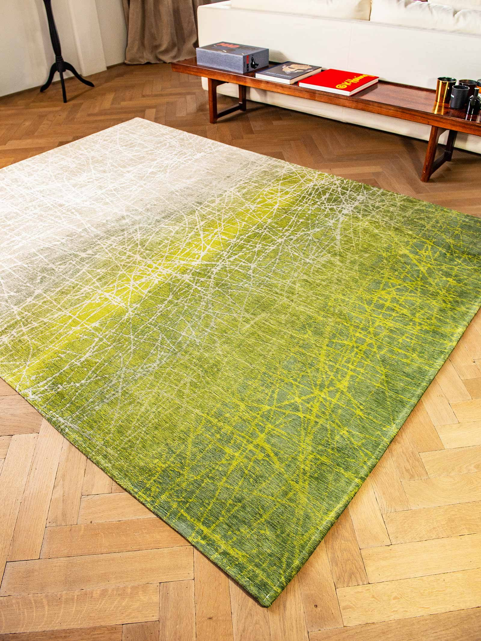 tapis Louis De Poortere LX 8882 Mad Men Fahrenheit Central Park Green interior 3
