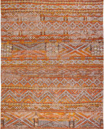 Louis De Poortere tapis LX 9111 Antiquarian Kilim Riad Orange